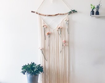 Elegant macrame bridal shower decor/curtain/ wall hanging ~Ready To Ship