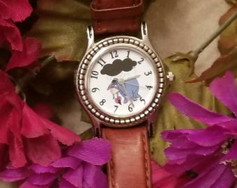 Disney Eyore Watch, Battery Operated Wristwatch, Walt Disney Watch, Disney Character, Leather Band, Original Band, New Battery