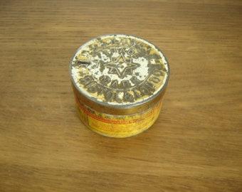 Vintage 1930s W D & H O Wills Cut Golden Bar round tobacco tin