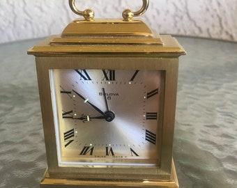 Swiss made Bulova 8 bedside or desk alarm clock.