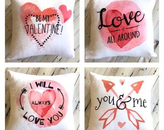 Kissen - Kissenbezug Valentinstag - Valentinstag Geschenk für Frau - Be My Valentine - romantisches Geschenk für ihn - weiches Kissen - Kinder Valentine