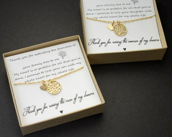Mother of the Groom Gift, Mother of the Bride Gift, Mother in law Gift, Wedding Gift, Tree of Life,Mother of the groom necklace
