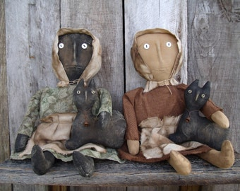 My Primitive KATE AND SAMMY  Doll Instant Download  Pattern