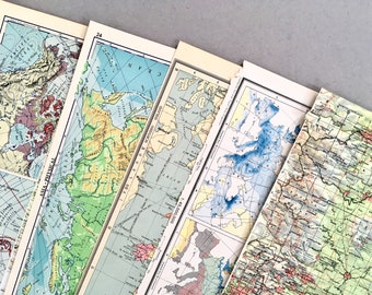 Map Scrapbooking Paper x20 Vintage Map Prints Travel Ephemera Scrap Paper Pack Travel Junk Journal Kit Scrapbook Album Pages Collage Kit