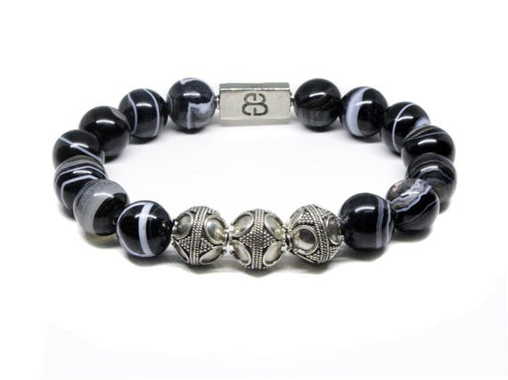 bracelet perle luxe homme. Black Bedroom Furniture Sets. Home Design Ideas