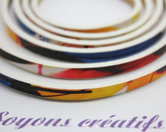 1 m strap leather multicolor 5mm - jewelry - PS02306 Creation-