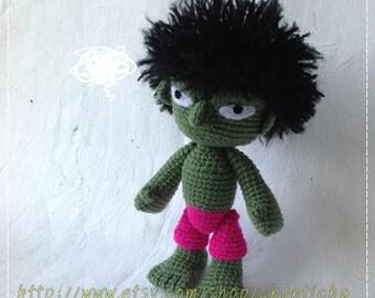 HULK 9 inches - PDF amigurumi crochet pattern