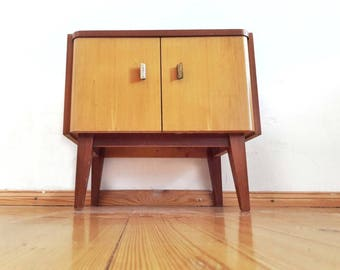 Mid Century Nightstand Lower Cabinet Side Table