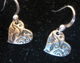 Amor Heart Dangle Earrings