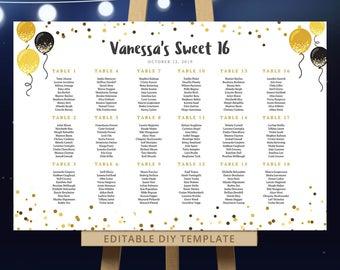 Sweet Sixteen Planning Sheet