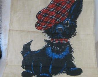 Vintage Scottie Dog Towel