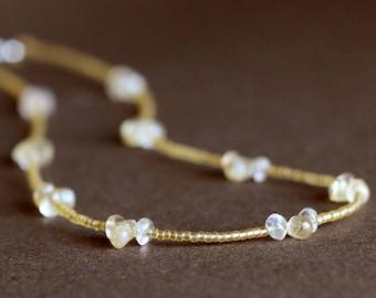 Long Golden Citrine Necklace