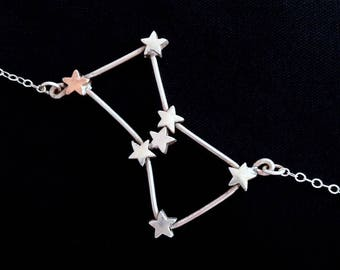 Orion Constellation Necklace (Sterling Silver)