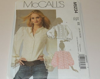 14-20 Uncut McCalls 5234 Blouse Pattern