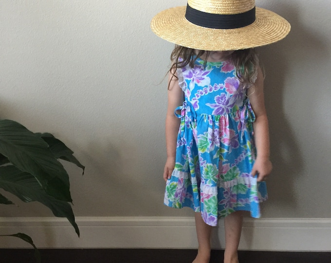 vintage Hawaiian toddler dress