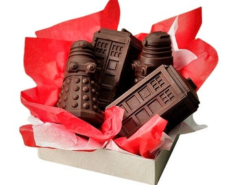 Doctor Who Tardis and Dalek Chocolate / Soap / Baking Silicone Mold