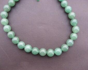 Aventurine: 3 Round 14 mm aventurine beads
