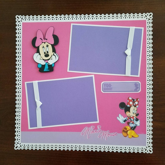 Disney Minnie Mouse Scrapbook Layout 1 Page 12x12