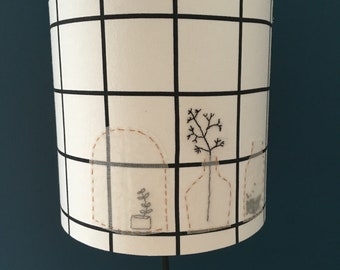 embroidered fabric wandering lamp