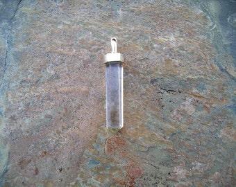 Sterling Silver Capped Quartz Crystal RF107