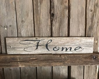 Home picket sign