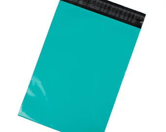 Teal Blue-Green Poly Mailers - Pack of 100 - Free Shipping