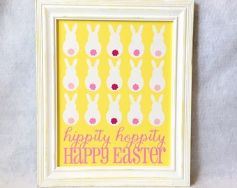 Hippity Hoppity Happy Easter Sign