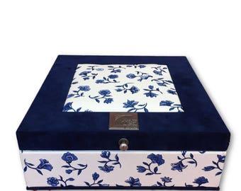 Tea box Delft Blue Sagar