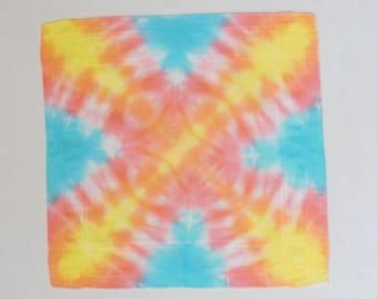Handkerchief, hand dyed handkerchief, OOAK
