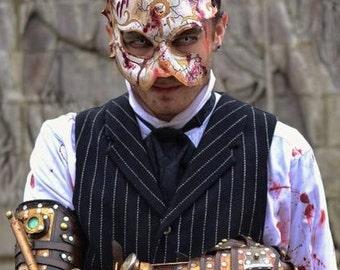 Masque de cuir de lapin. Lapin de BioShock épisseur masque. Costume à la main par SkinzNhydez steampunk armurerie