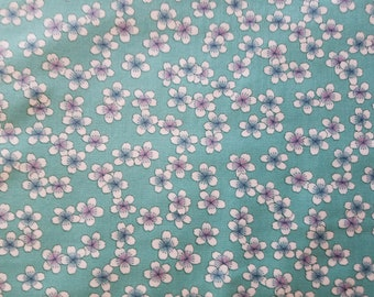Tossed Flowers Cotton Fabric by the yard