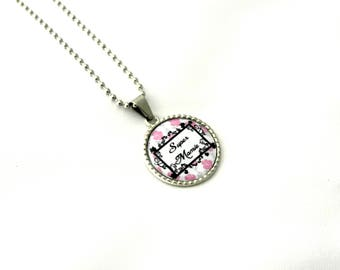 Jewelry necklace Grandma necklace personalized cabochon parties a great mothers necklace