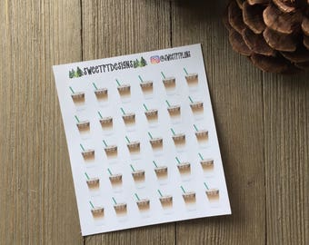 Functional Iced Coffee Planner Stickers