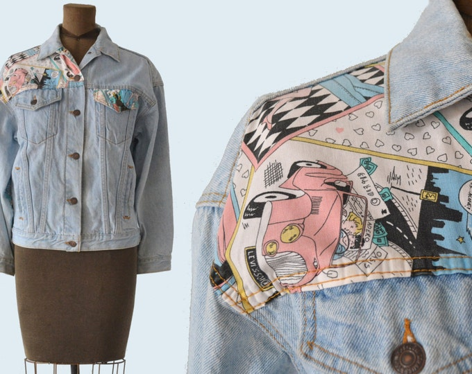 Pop Art 1980s Levis Jacket size L