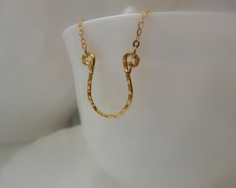Horseshoe necklace, Gold Filled Horse shoe, Horse shoe pendant, Fifty Shades of Grey,  jewelry, Lucky charm