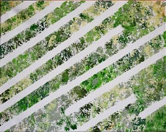 Green Goddess Abstract Painting
