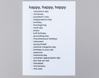Check It Card - Happy Holidays