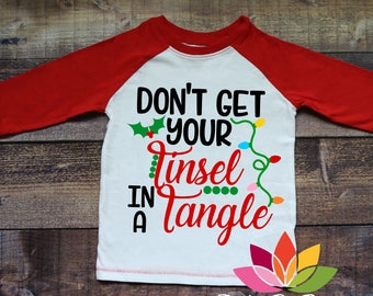 Christmas SVG, Don't Get Your Tinsel in a Tangle, Mistletoe, Christmas Lights cut file for silhouette cameo and cricut