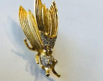 Flutter insect brooch, Hattie Carnegie