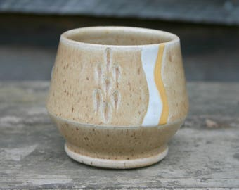 Small Tan Cup