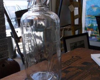 Vintage Indiana Glass Maple Syrup Bottle - New Old Stock - Sugaring 1940s