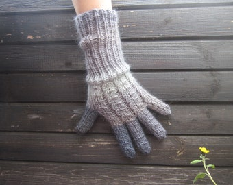 Not Exactly 50 Shades of Grey Multicolor Wool Gloves. Winter Handknitted Gloves. Handmade Women Accessories designed by dodofit on Etsy