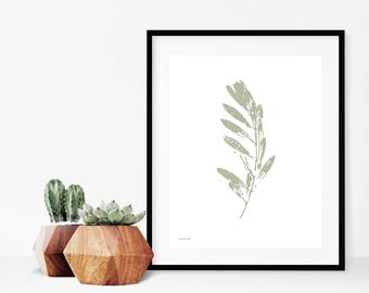 Olive Leaf Print, Botanical Print, Olive Branch Print, Digital Download Botanical Art, Home Decor Printable Art, Minimalist Wall Decor