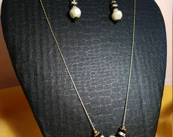 Pearl Earrings and Necklae