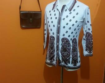 1960s Paisley blouse