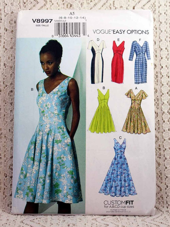 Vogue 8997, Misses\' Dress Sewing Pattern, Vogue Easy Options Pattern ...