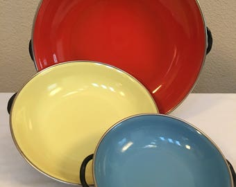 EMO Frite Enameled Saute Pan Set