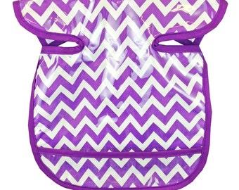 Purple Zig Zag Apron Bib