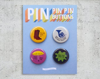 How I Met Your Mother Button Set / TV Show Buttons / Pinback Buttons / Gift Set