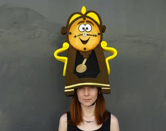 Cogsworth headdress,  Musical theatre, Foam costume